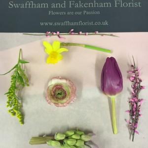 Swaffham florist hand tied floral workshop
